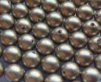6mm SWAROVSKI® ELEMENTS Platinum Crystal Pearl Beads - 50 pearls for jewellery making, beadwork and craft